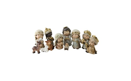 11 Piece Inspirational Christmas Nativity Figure Set with Gold Accents 716a59c0-e966-492c-a5d7-43890ed8a6b1
