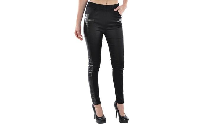 Lady's Fashion Palladium w/ Rhinestones Leg Wear