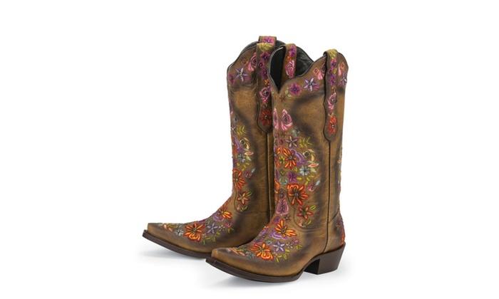 836b5e5cf9e Black Star SWEETGRASS (Tan/Multicolored) Women's Cowboy Boots | Groupon