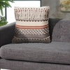 """LR Home Chic Natural Gray Throw Pillow ( 18"""" x 18"""" )"""