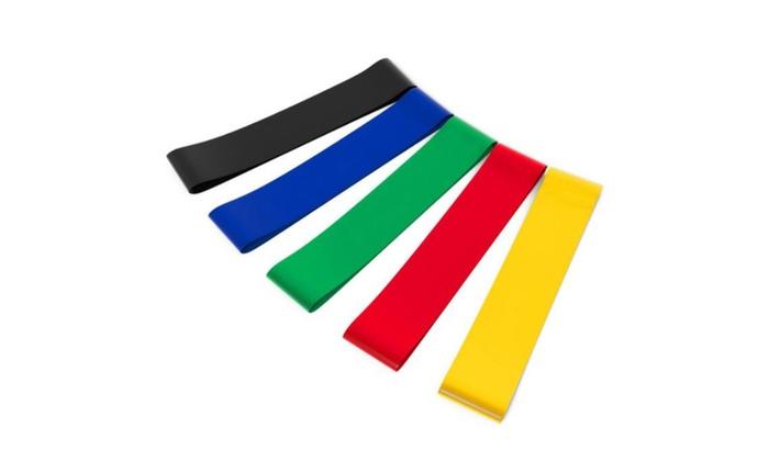 Resistance Exercise Band Set 5 Piece - color radom