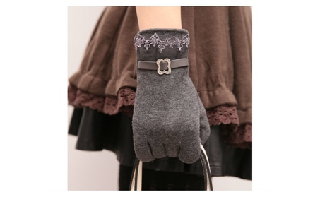 Woman Velvet Warm Touch Screen Gloves 018b4794-118c-4afe-8339-f64768688b8b