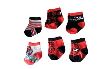 Marvel Spider-Man Superhero Infant Baby Boys Socks - 6 Pack 5172e955-5070-458f-8f86-14120393d23b