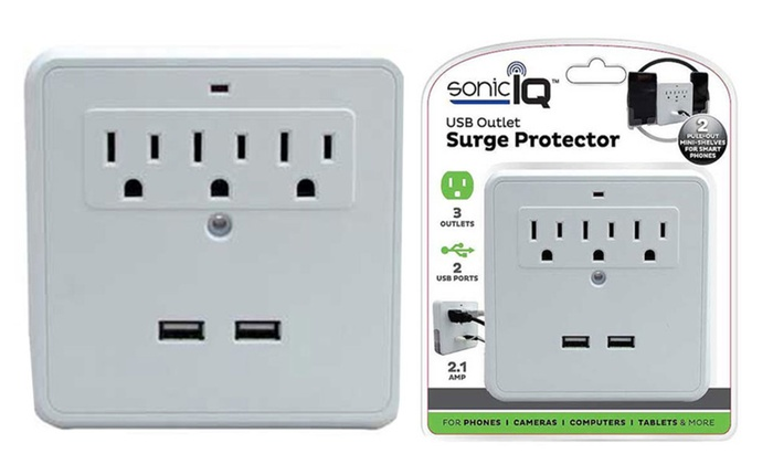 2 USB Outlet Surge Protector