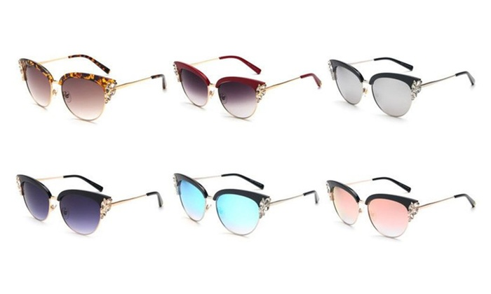 Summer Peekaboo Cat Eye Women Sunglasses