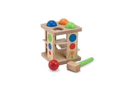Deluxe Pound and Roll Wooden Tower Toy With Hammer d3ecbc28-d8e7-4a53-b087-1eb69a9299e7