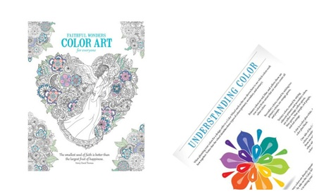 Adult Coloring Book Faithful Wonders Enjoy Creative Entertainment
