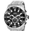 Invicta Men's 26074 Pro Diver Quartz Chronograph Black Dial Watch