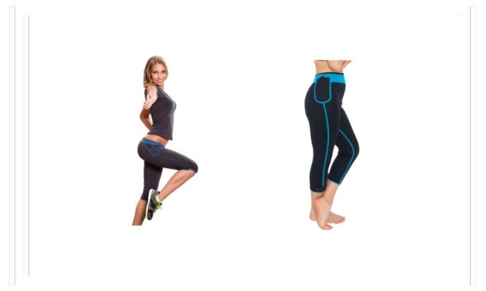 Women's Active Apparel Heat Max Capris Elastic closure