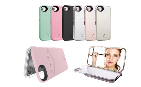 LED Light Up Selfie Case Cover Mirror for iPhone 5/6/6s/7/8 Plus 768cf456-4f74-4510-a61e-3e5b16bd5259