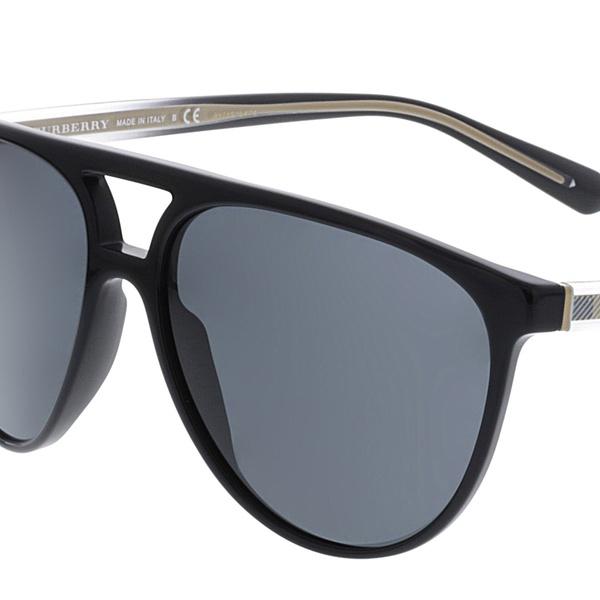 a1de1da771a7 Burberry Men's Mirrored BE4254-300187-58 Black Aviator Sunglasses | Groupon