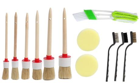 12 Pieces Car Detailing Brush Set Car Cleaner Brush Kits