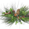 Set Of 2 Berry & Christmas Pine Candle Holder Centerpieces