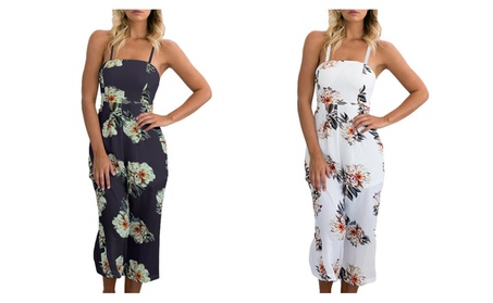 Women Floral Wide Leg Rompers 9cecd00c-eccc-400f-abfb-305fc50fc673
