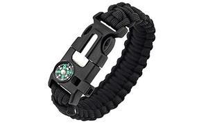 5-in-1 Survival Bracelet Multifunctional Paracord Bracelet Travel Kit