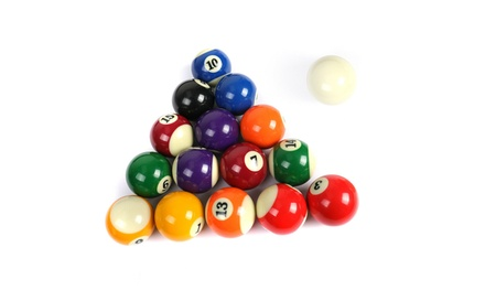 "Pool Table Billiard Ball Set 2-1/4"" Regulation Size Complete 16 Ball Sets"