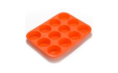 12 Cup Premium Cupcakes Baking Pan - Dishwasher/Microwave Safe cf680bd9-23fa-4451-a888-bb6175608897