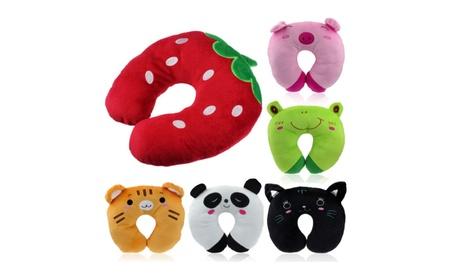 Car Home Office Accessory Soft Cartoon U Shaped Neck Relax Pillow 0ec8cd0e-711c-472c-8f20-3d81597a3d9a