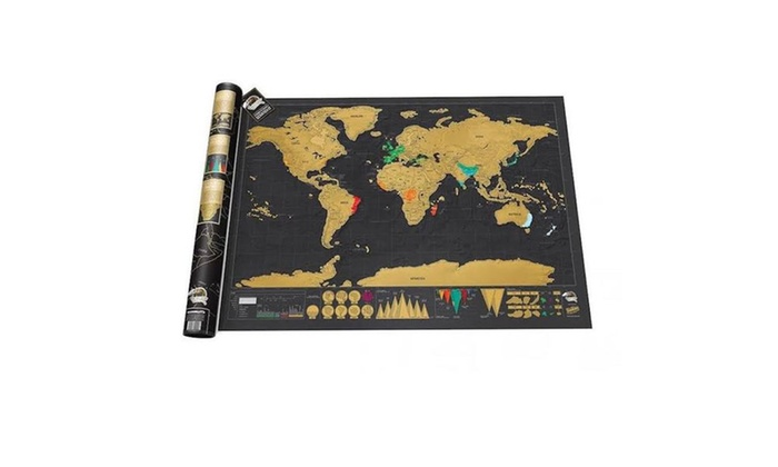 Up to 53 off on world scratch map groupon goods world scratch map gumiabroncs Images