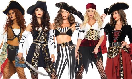 Leg Avenue Women's Cruel Seas Captain Costume Set Sexy Pirate Halloween Dress