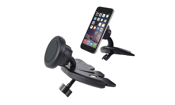 Universal Magnetic CD Player Slot Car Mount with Plates | Groupon