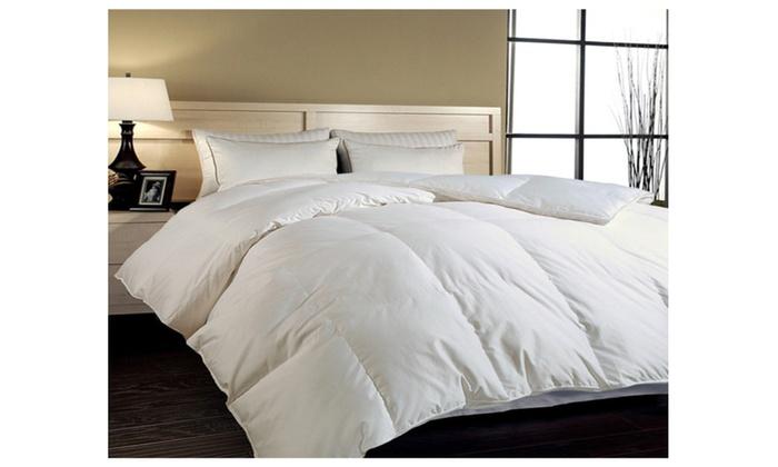 Elliz Super White Down Comforter Year Round Warmth Duvet
