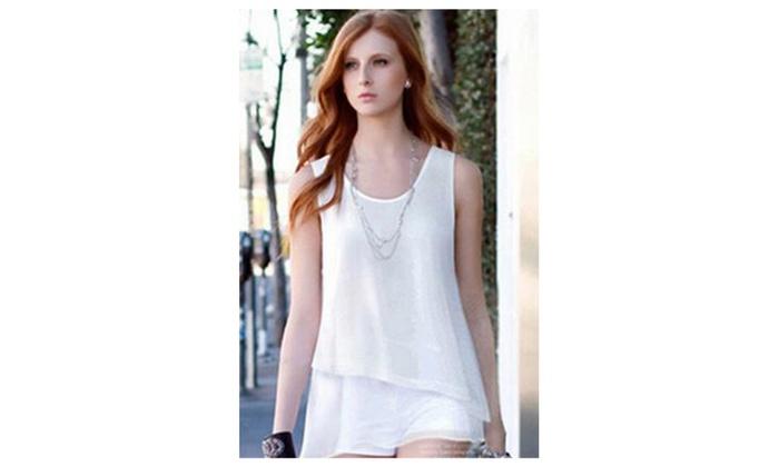 Women Irregular Hem Casual Shirt and Blouse - KMWSB890-KMWSB891