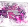 Pink and Purple LipsSensual Metal Wall Art 28x12