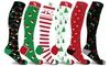 XTF Holiday Collection Knee-High Compression Socks (1 or 3 pairs)