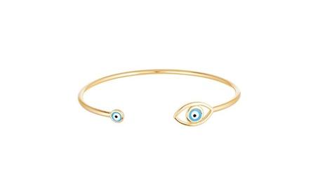 Evil Eye sterling-silver & Enameled Evil Eye Ends Cuff Bngel f7ff27fa-65ad-4033-8664-d5e40ec492a8