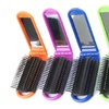 Beauty Travel Folding Hair Brush with Mirror Pocket Size Massage Comb