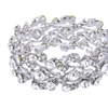 Silver Plated Multi-Leaf Bridal Bracelet Bangle