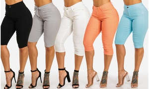 High Waist Women's Stretchy Color Capris in Junior Sizes  at High Waist Women's Stretchy Color Capris in Junior Sizes , plus 6.0% Cash Back from Ebates.
