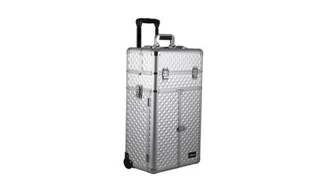 Sunrise Outdoor Travel Silver Diamond Trolley Makeup Case - I3566 349b663d-da21-4915-bc36-d92a16847db5