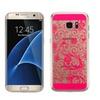 Insten Four Leaf Clover Tpu Case For Samsung Galaxy S7 Edge Hot Pink