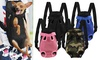 Pet Frontpack Carrier Travel Backpack Legs Out Easy-Fit for Traveling Hiking