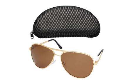 LotFancy Men's Aviator Polarized Sunglasses With Carrying Case ac09386c-e091-4755-b85e-20bcb53db482