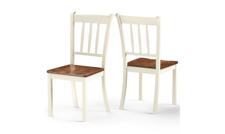 Costway Set of 2 Wood Dining Chair High Back Kitchen Whitesburg Side Chair