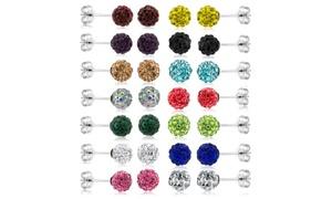 28 Pack Crystal Ball Earrings Set