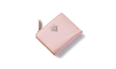 Pink Love Heart Short Wallet Purse For Fashion Lady (Goods Women's Fashion Accessories Wallets) photo