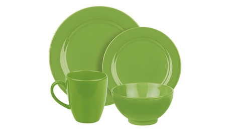 16pc Place Setting Fun Factory Green Apple 5c54c8fd-9da6-4973-bda7-07e5644e7186