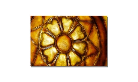 Kathie McCurdy 'Copper Metal Flower' Canvas Art e96134af-4488-469d-adb5-12990c60a015