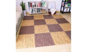 Sorbus Wood Grain Color Interlocking Floor Mat