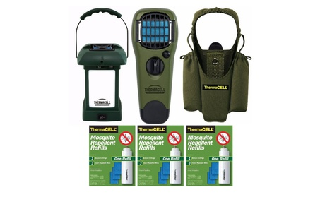 ThermaCELL Mosquito Repellent Outdoor Lantern w/ Appliance & Accessory photo