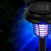 Pure Garden LED and UV Solar Light Bug Zapper