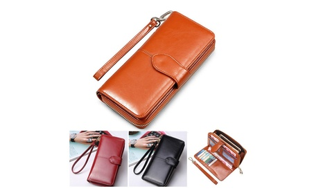 Floveme Fashion Woman Wallet Bag Multifunctional Purse For Smartphone (Goods Electronics Cases) photo
