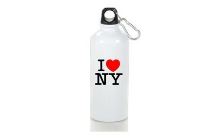 I Love Ny New York Logo Drinkware Sport Bottle With Loop Cap 51136a36-01b4-4d67-af9f-81da216efe5c