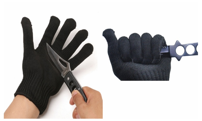 Fishing Polyester & Stainless Steel Fillet Cut Resistant Glove