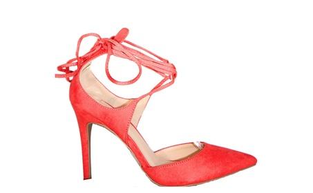 Women's Lace Up Pointed Toe High Heels bacfc2da-b63a-4937-ba4f-e071823f21ea