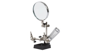 "2x Helping Hand 3.5"" Magnifier with Stand by Stalwart"